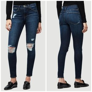 Frame Le High Skinny Stretch Jeans in Montclair